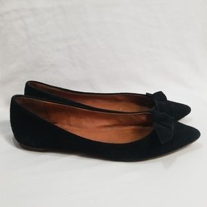 Madewell The French Knot Suede Pointy Skimmer 6.5